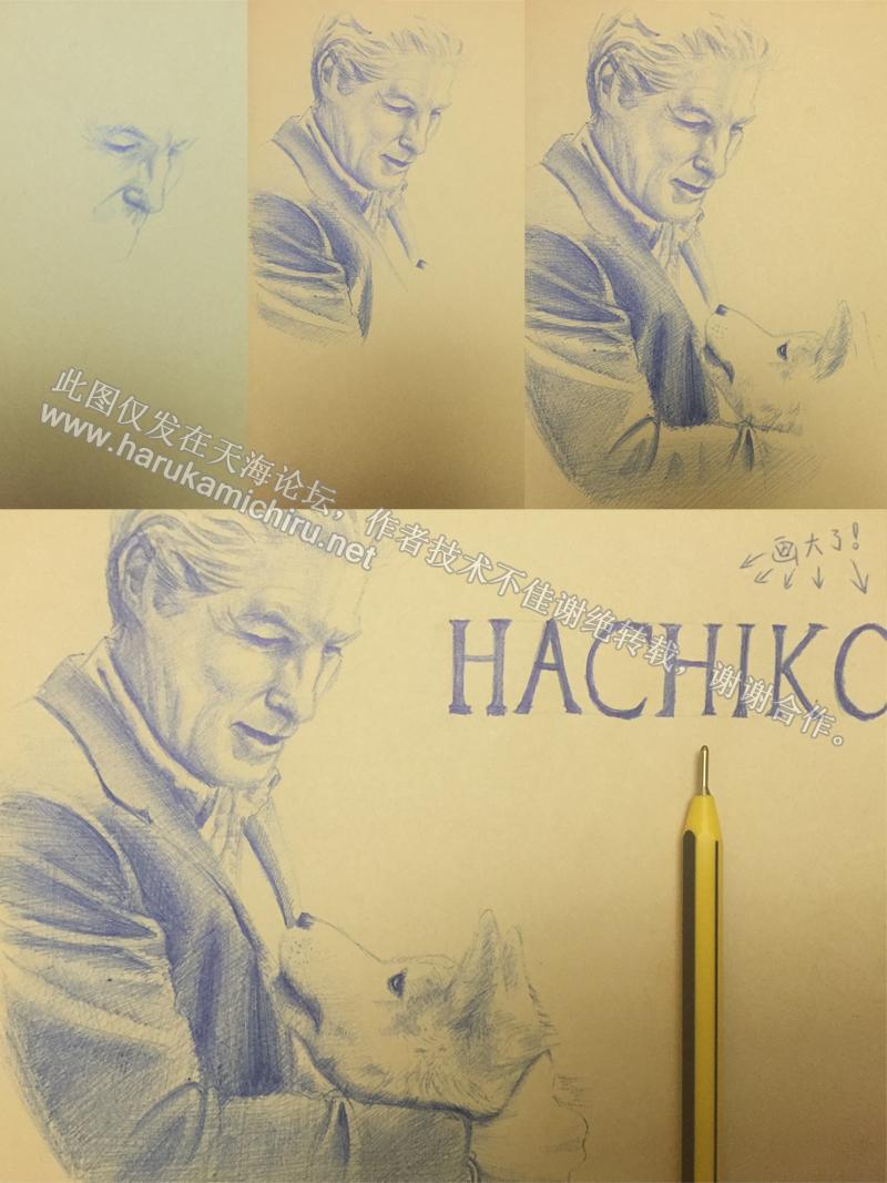圆珠笔画技法图片
